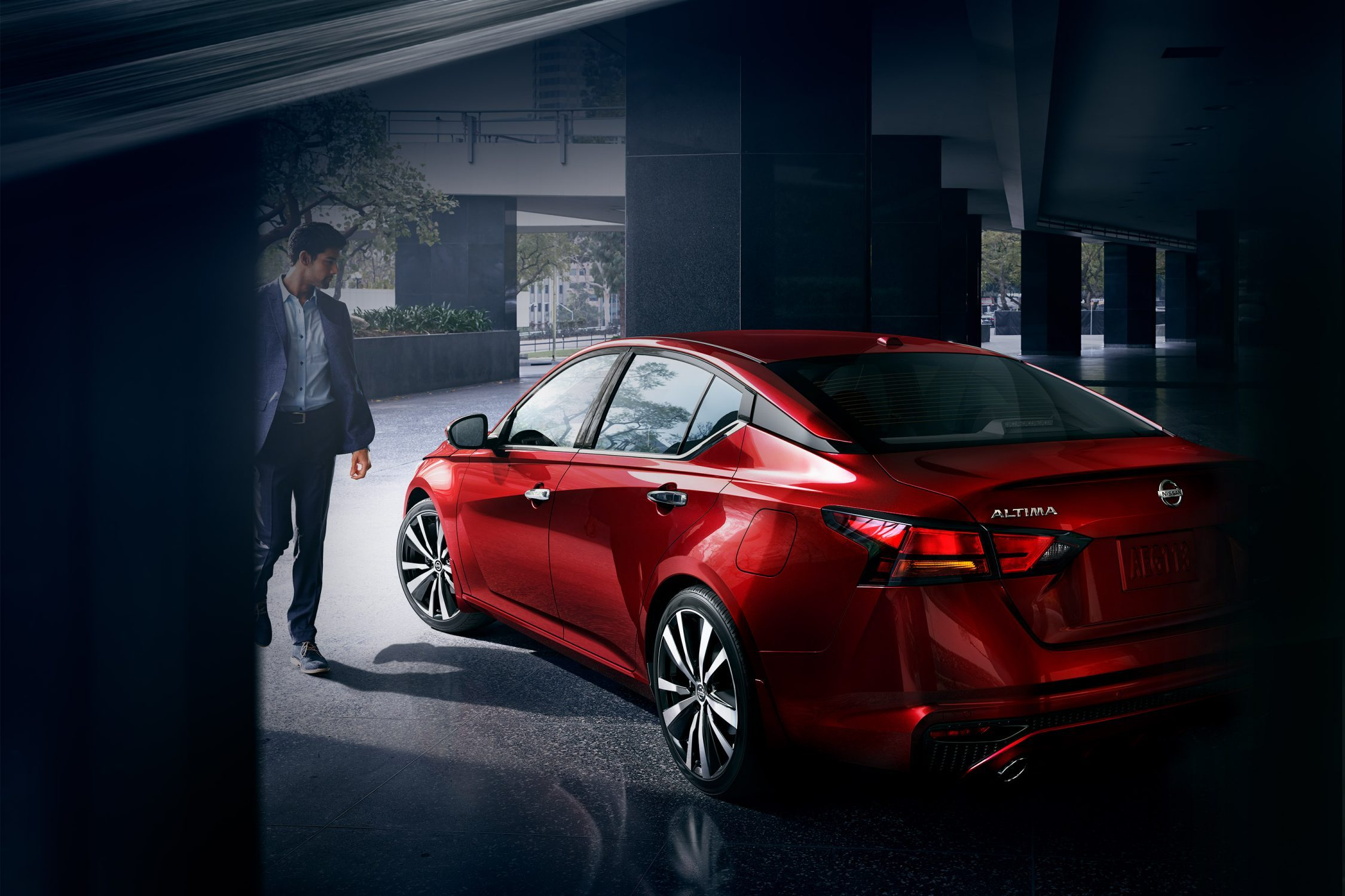 2019 nissan Altima in Scarlet Ember red