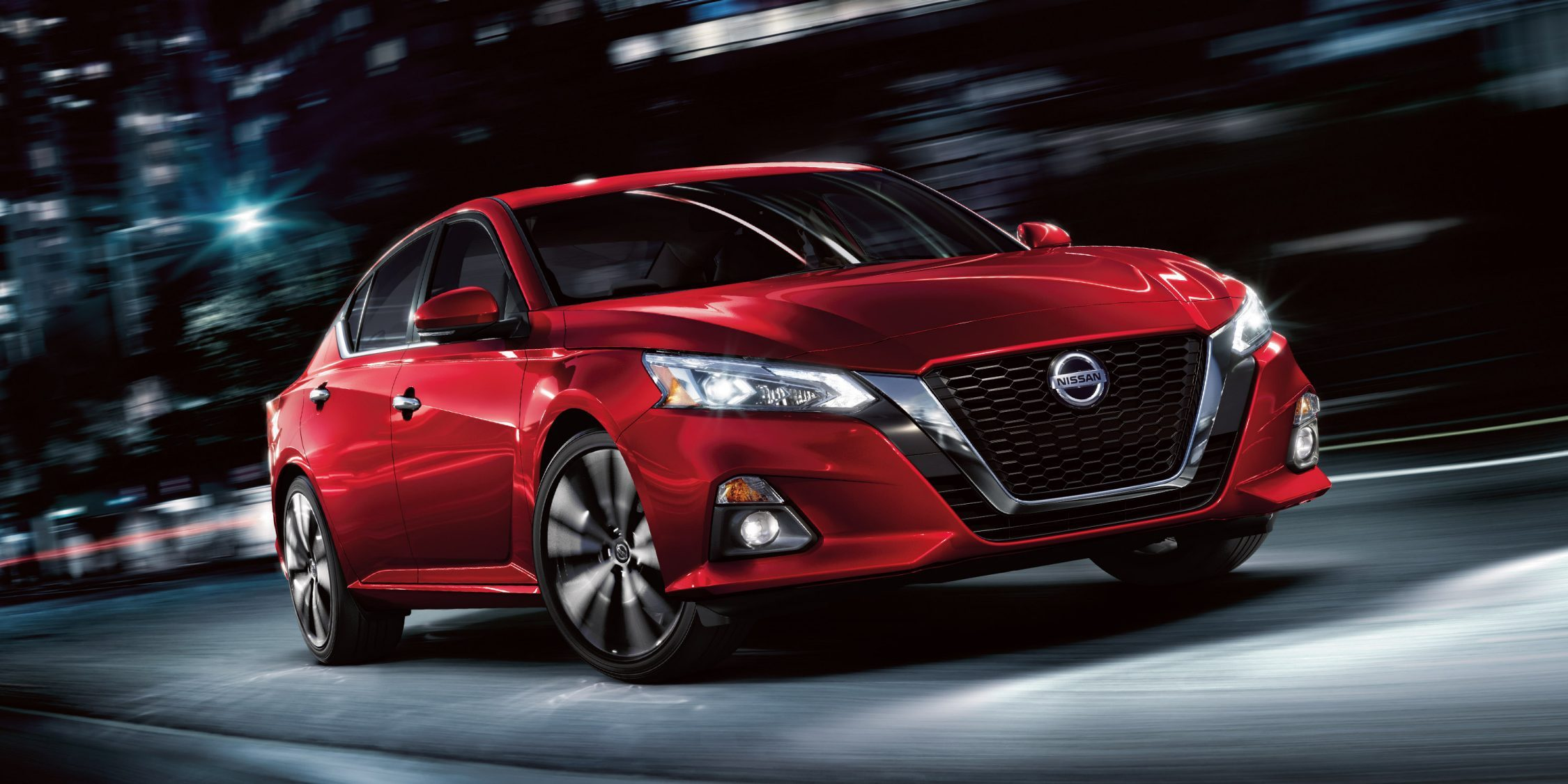 nissan Altima red exterior
