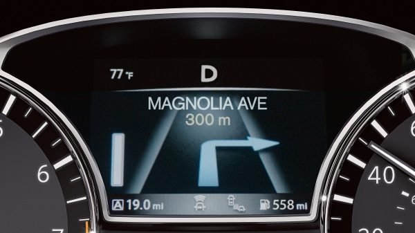 Nissan Altima driver's display