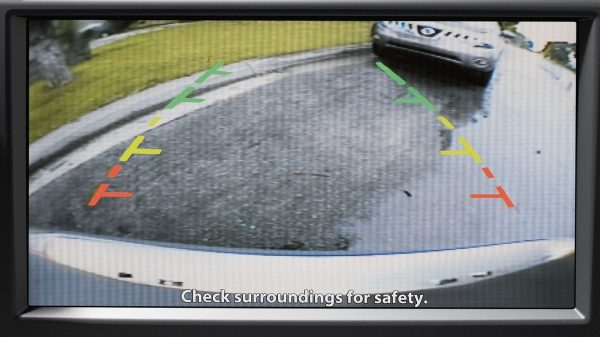 Nissan Altima rear view monitor display