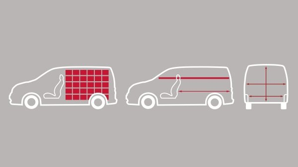 Nissan e-NV200 - Illustration of cargo capacity