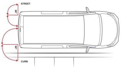 Nissan e-NV200 - Overhead illustration showing rear doors open