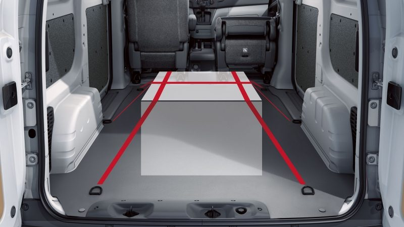Nissan e-NV200 - Cargo area showing tie-downs