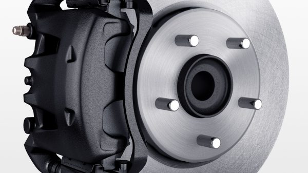 Nissan e-NV200 - Brake caliper and rotor detail