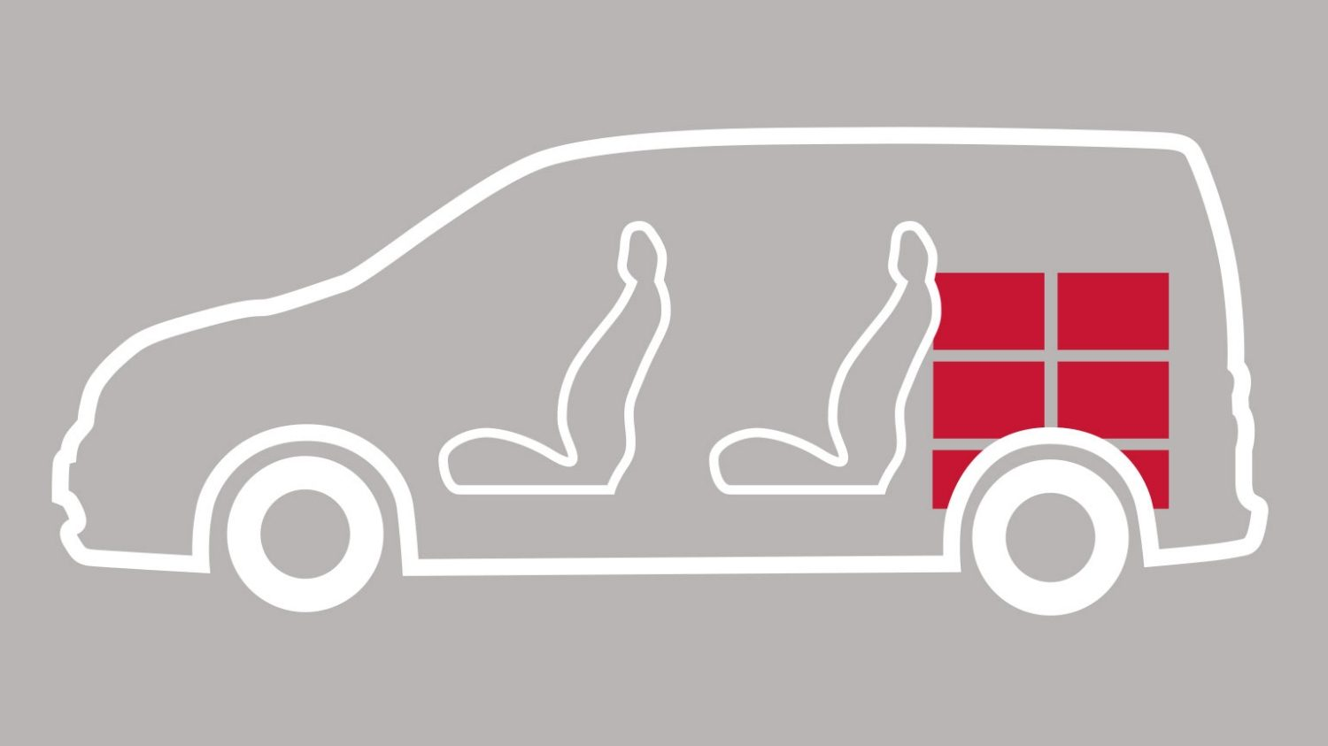 Nissan e-NV200 - illustration showing seating and cargo space