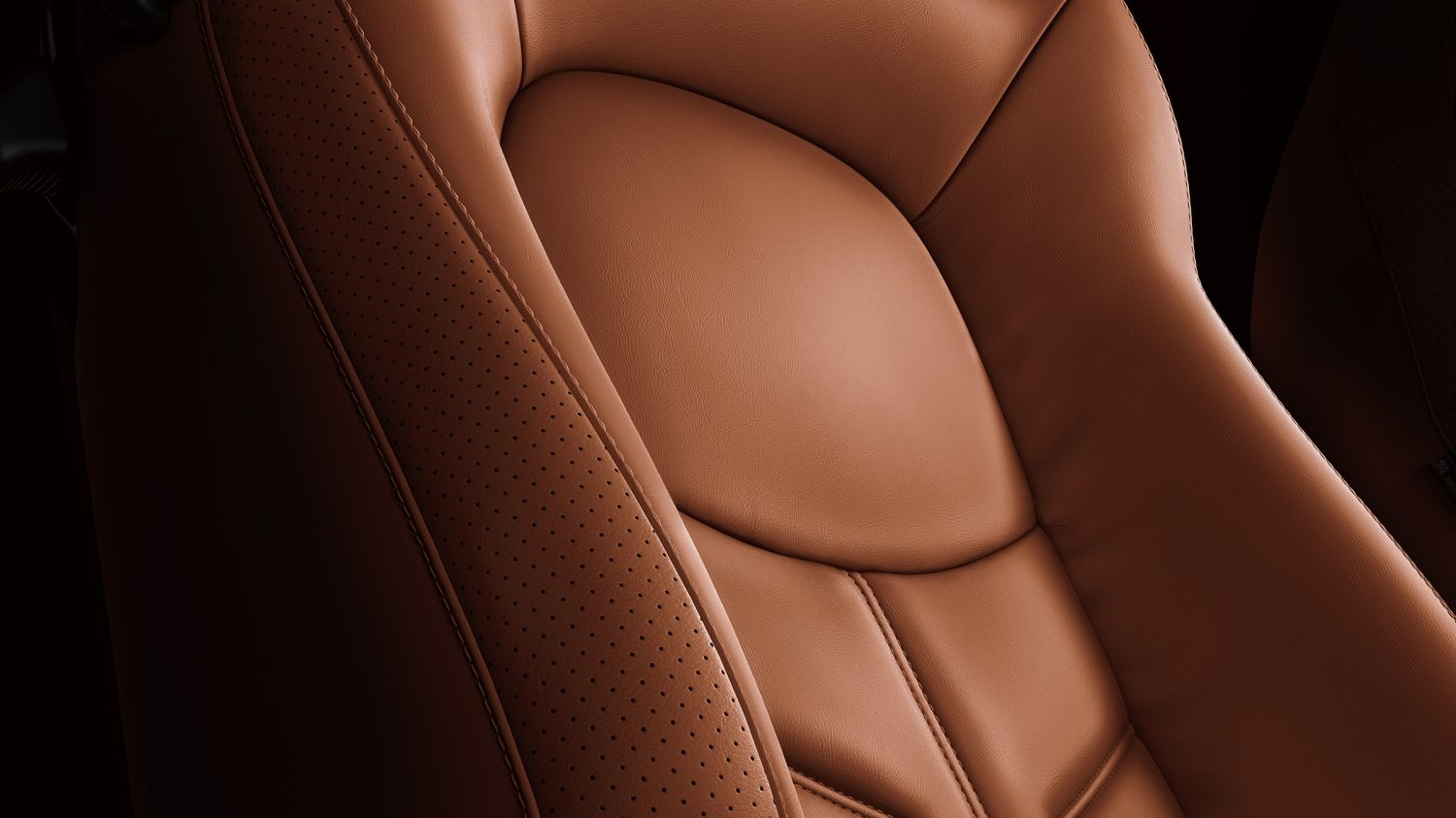Nissan GT-R finely stitched seat details