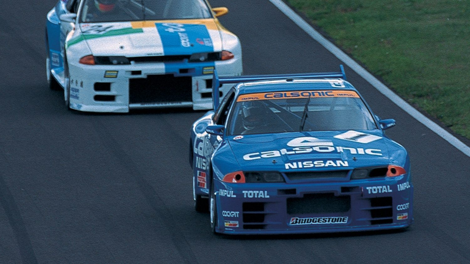 Nissan GT-R Nismo Calsonic on the track