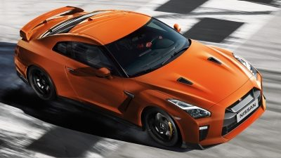 Nissan GT-R on racetrack