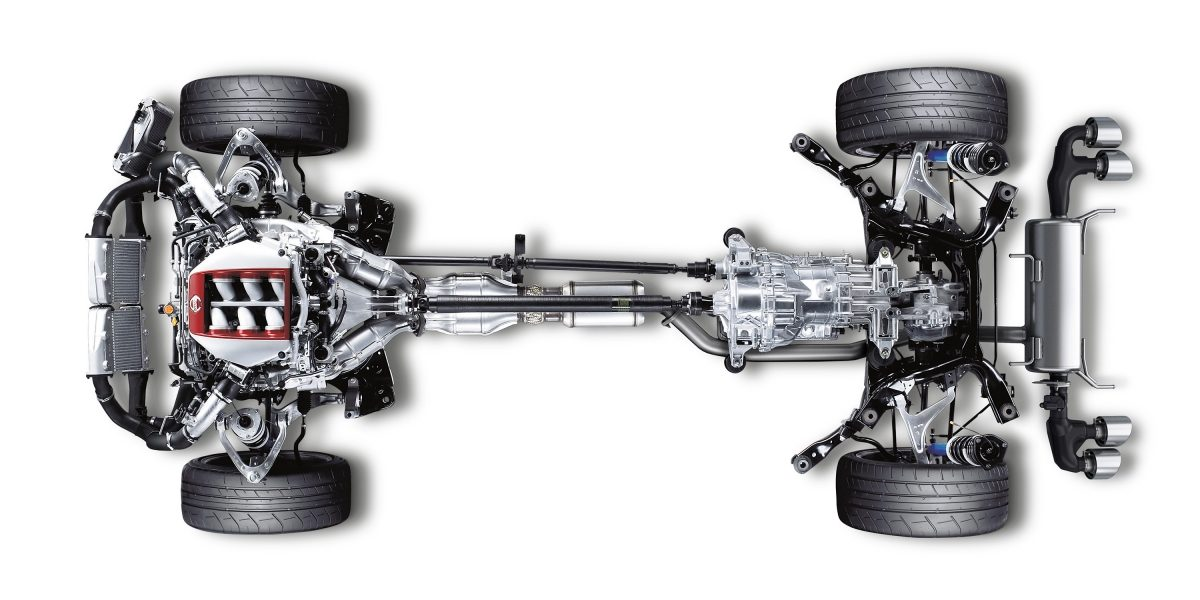 Nissan GT-R Premium Midship chassis