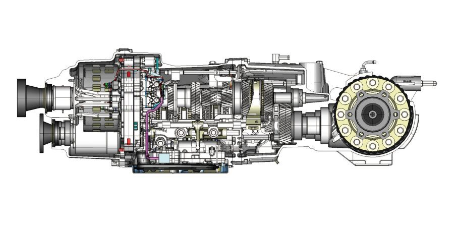 Nissan GT-R dry sump lubrication system illustration