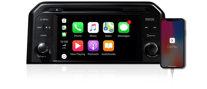 Nissan GT-R Apple CarPlay Screen