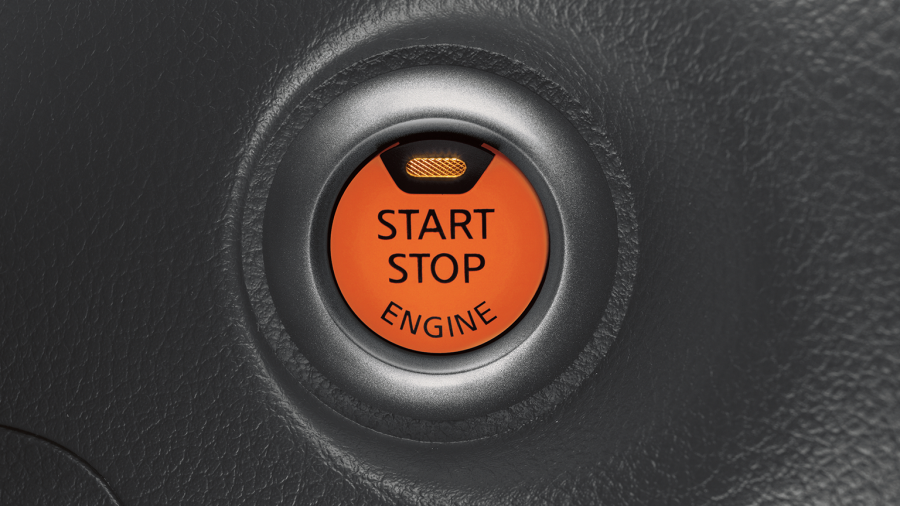 Nissan Juke - Start and stop button
