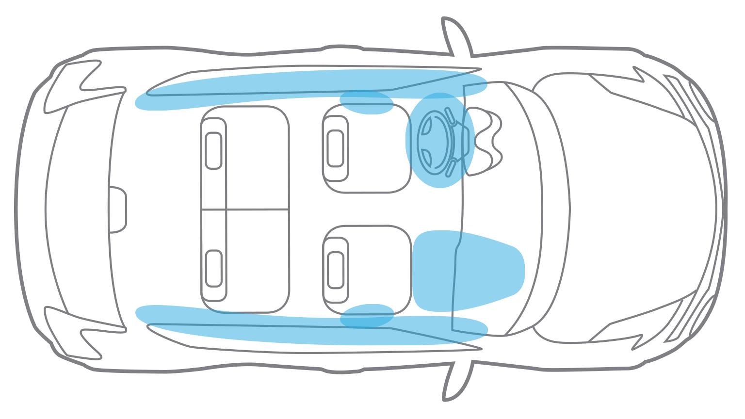 Nissan JUKE— безопасность— подушки безопасности