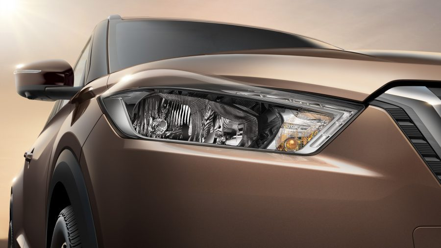 Close-up of Nissan Kicks headlight