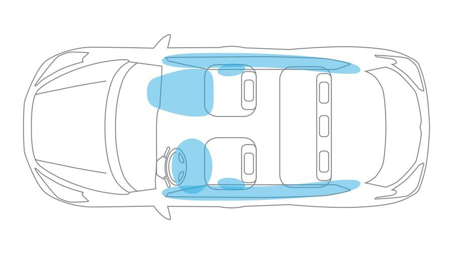 Airbag system illustration