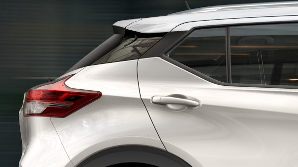 Close-up of Nissan Kicks exterior profile