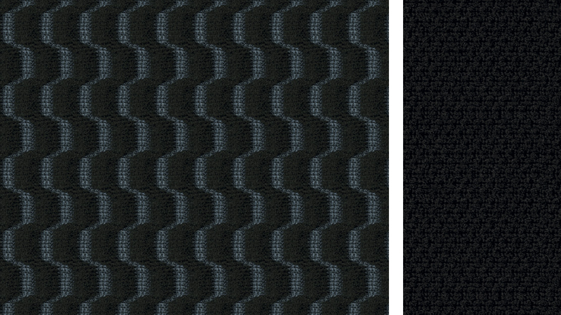 BLACK KNIT FABRIC