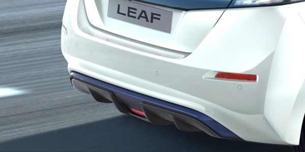 New Nissan LEAF rear diffuser