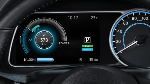 New Nissan LEAF new gauge cluster