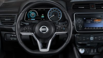 New Nissan LEAF D-shaped steering wheel