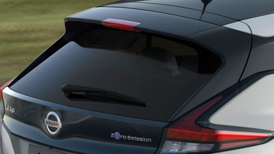 New Nissan LEAF aerodynamic spoiler