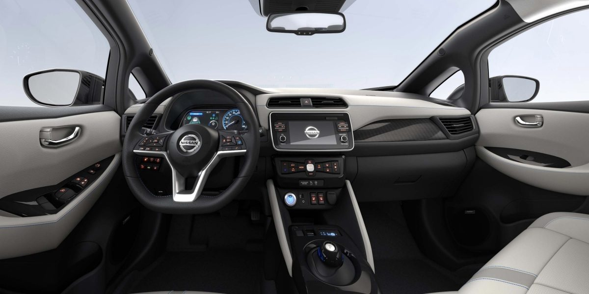 New Nissan LEAF interior light - leather / alcantara