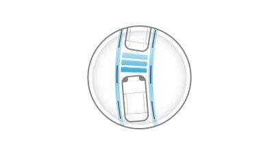 Nuevo Nissan LEAF en carretera, visto desde detrás del volante