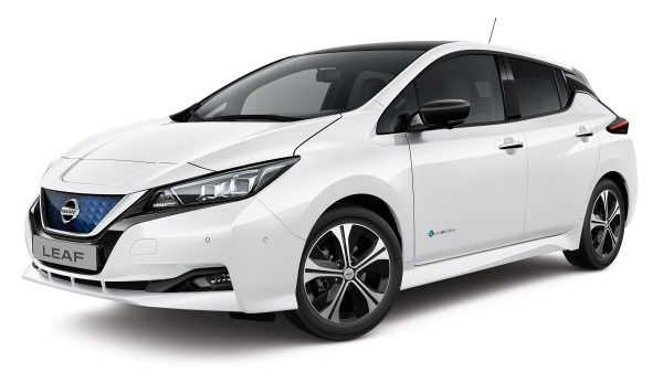 New Nissan LEAF 3/4 front view