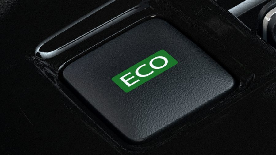 New Nissan LEAF ECO mode button