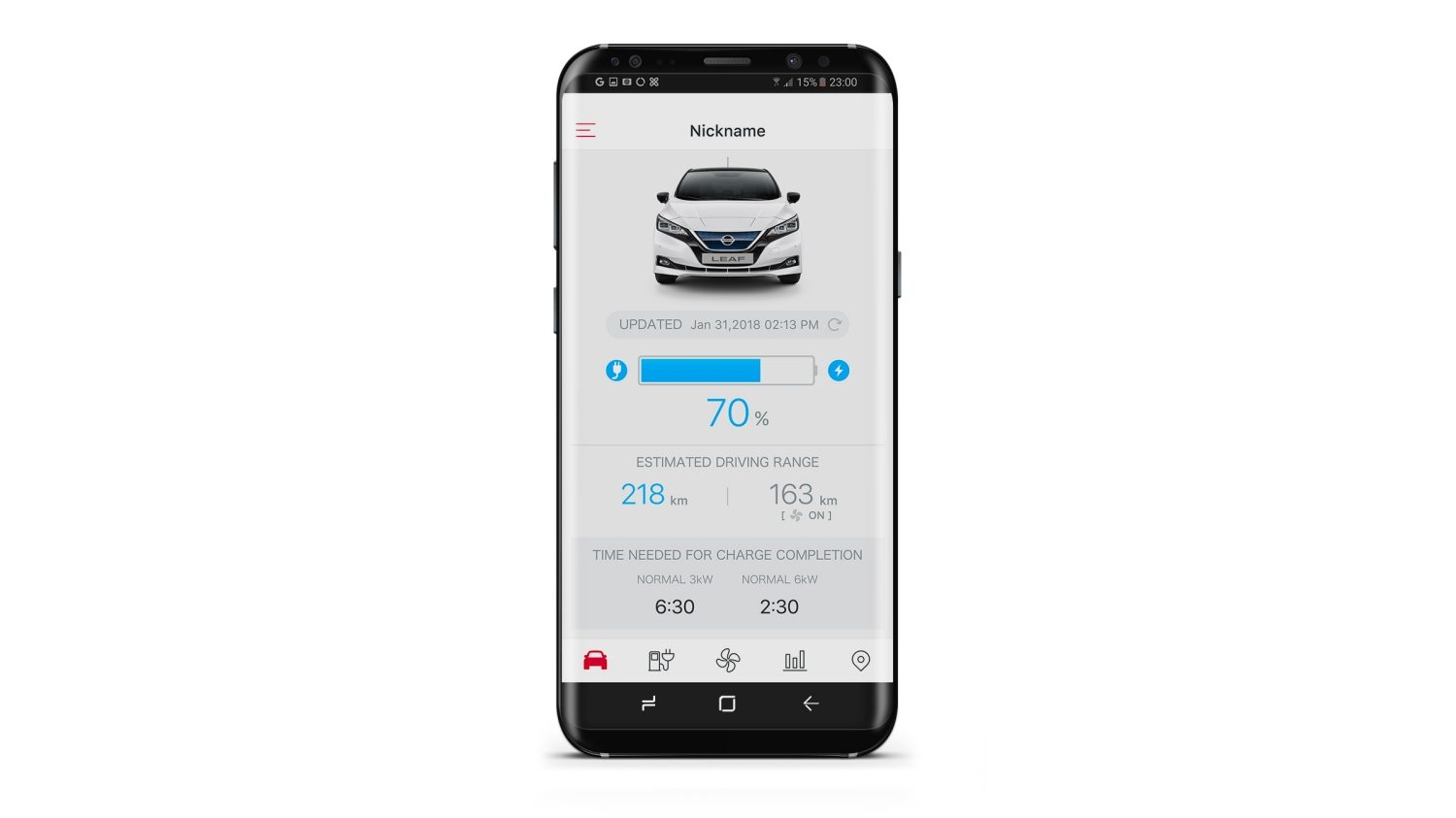 New Nissan LEAF Nissanconnect EV app