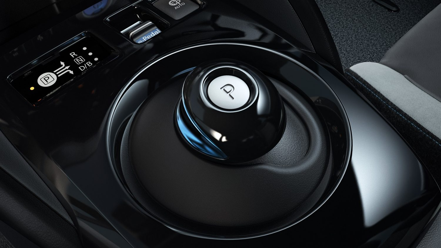 New Nissan LEAF drive selector