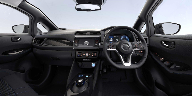 New Nissan LEAF Interior Black Suede ...