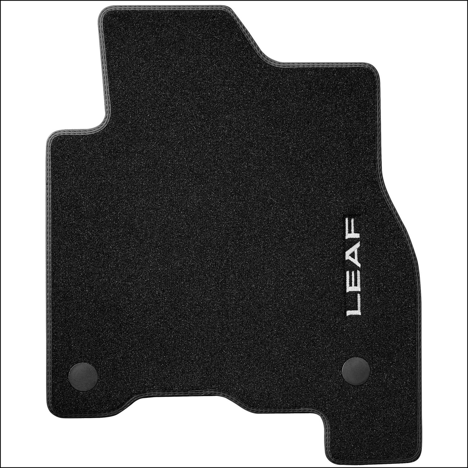 Nissan LEAF velour mat double stitching black
