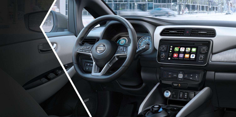 Nissan Leaf Interior Showing Redesigned Dash