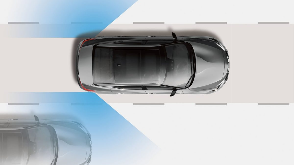Blind Spot Warning Illustration