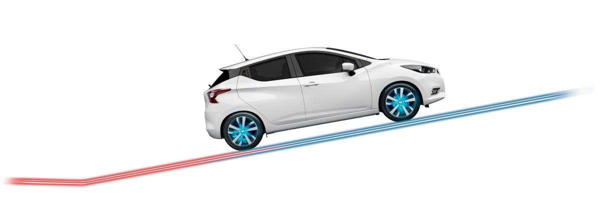 NISSAN MICRA Berganfahr-Assistent Illustration