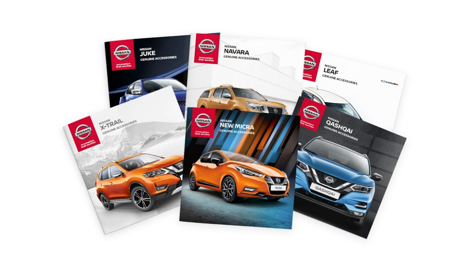 Nissan brochures composition