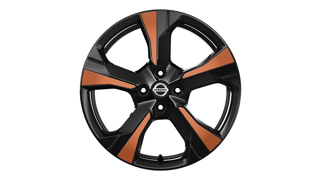 Inserções para jantes Xeno Energy orange do Nissan MICRA