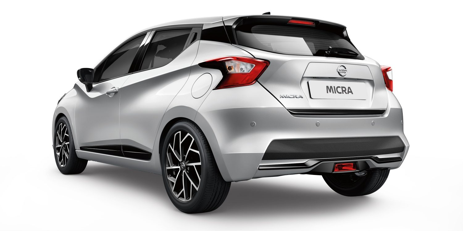 New Nissan Micra 3/4 Rear Silver and Black