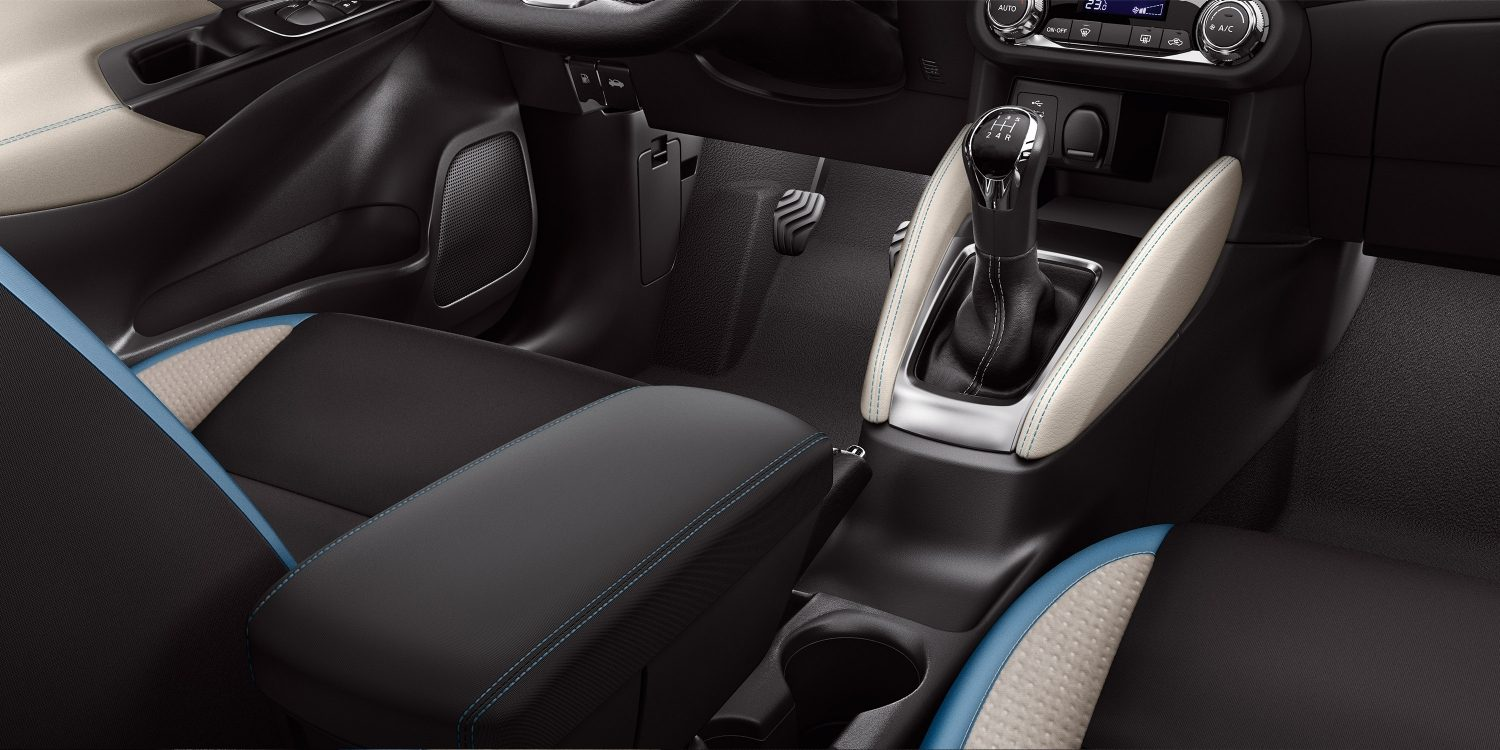 New Nissan Micra Blue Interior