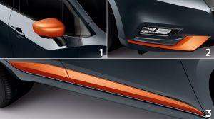 Nissan Micra Exterior Pack Energy Orange