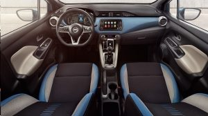 NISSAN MICRA Innenraum-Paket in Power Blue