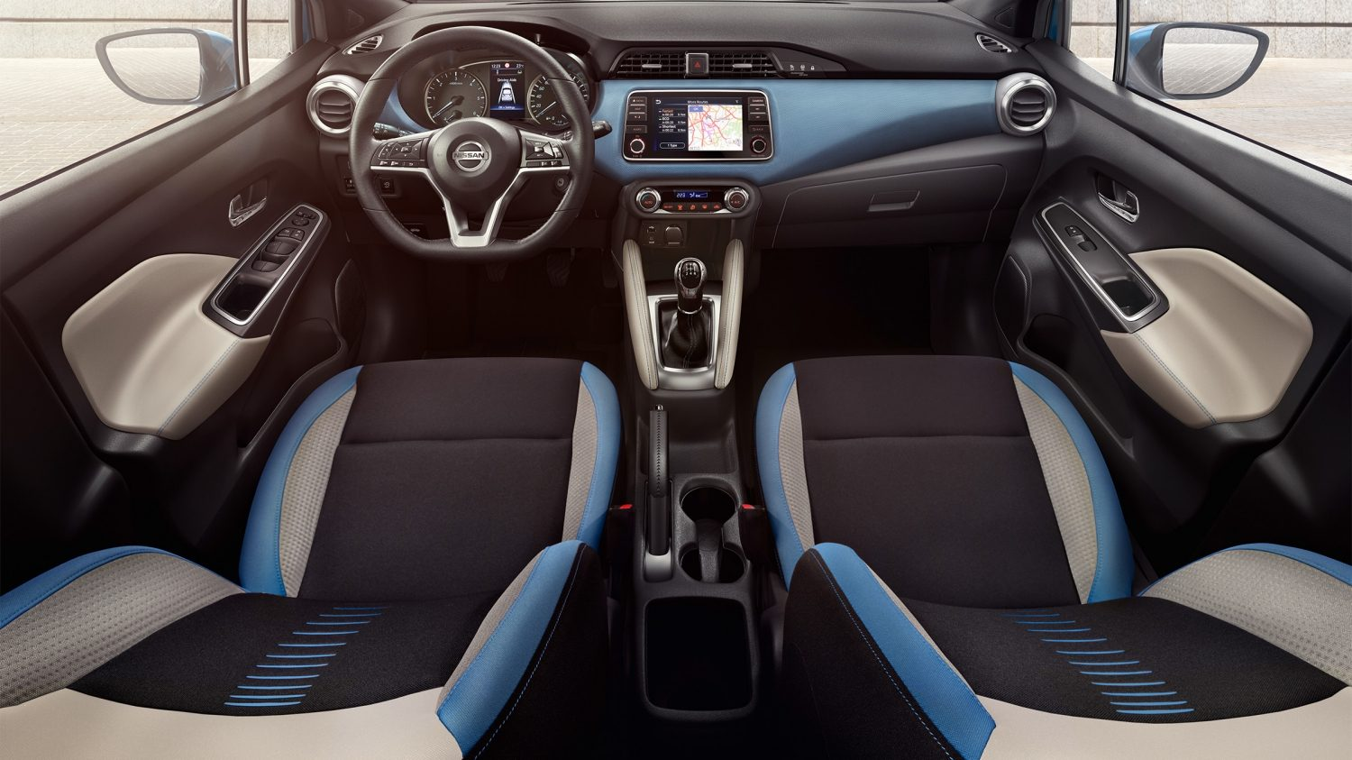 Interni Power Blue Nissan MICRA