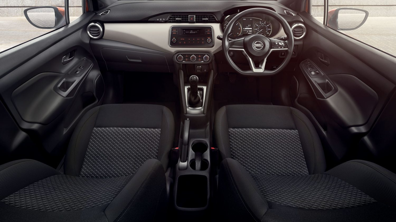Nissan Micra Black Cloth Interior