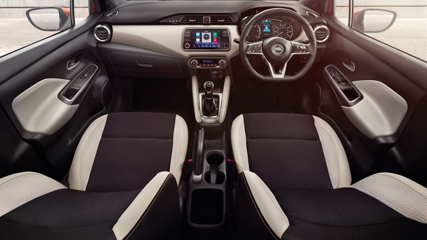 Nissan Micra Cloth Absolute Black Grey Interior