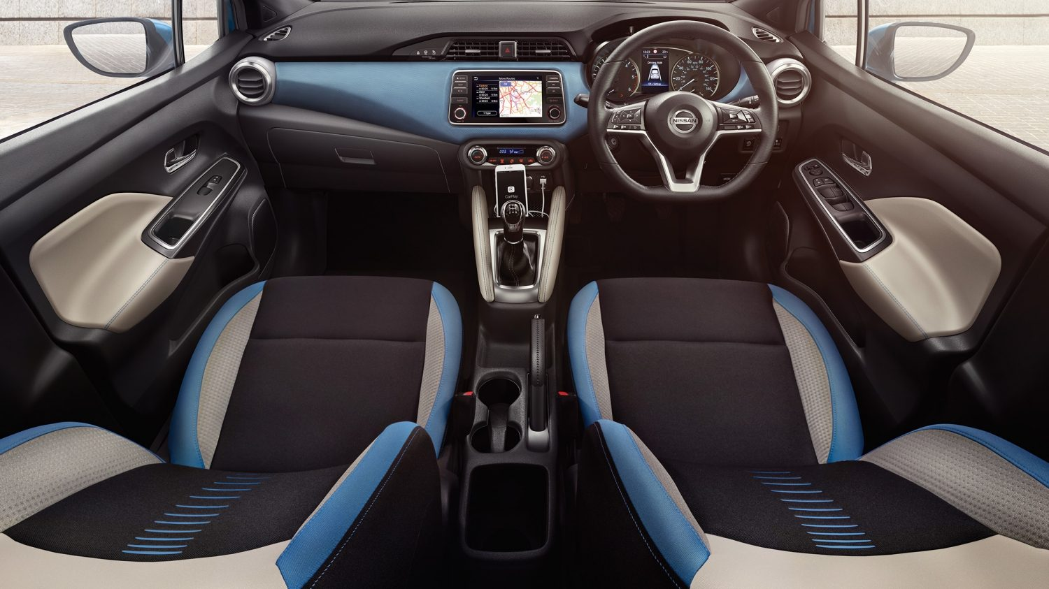 Nissan Micra Power Blue Interior
