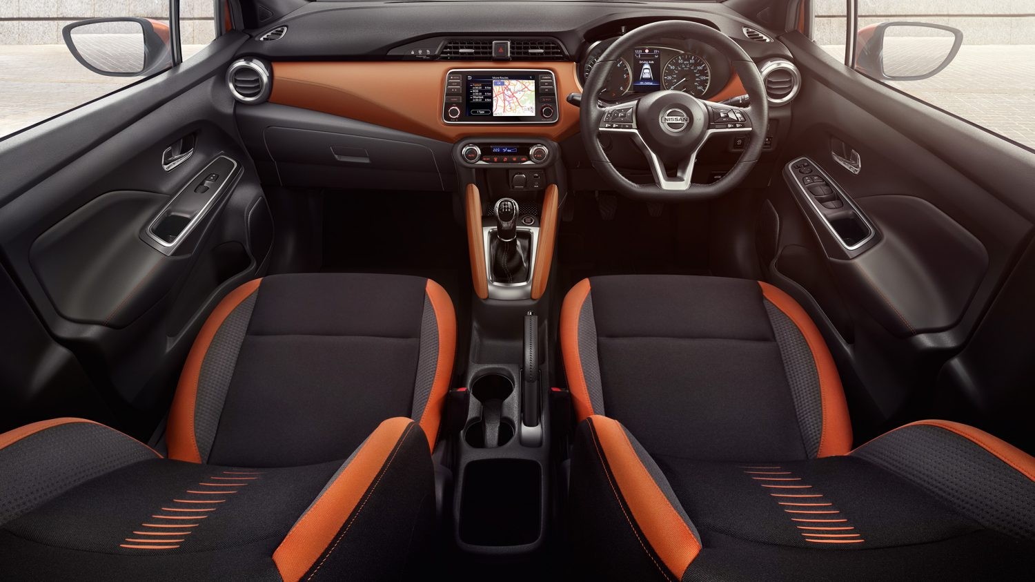 Nissan Micra Energy Orange Interior
