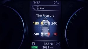 Nissan Micra Tyre Pressure Monitoring System Screen