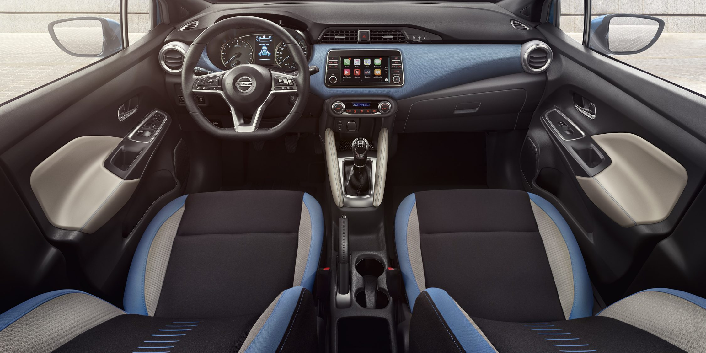 Micra Lifestyle Gallery Power Blue Interior