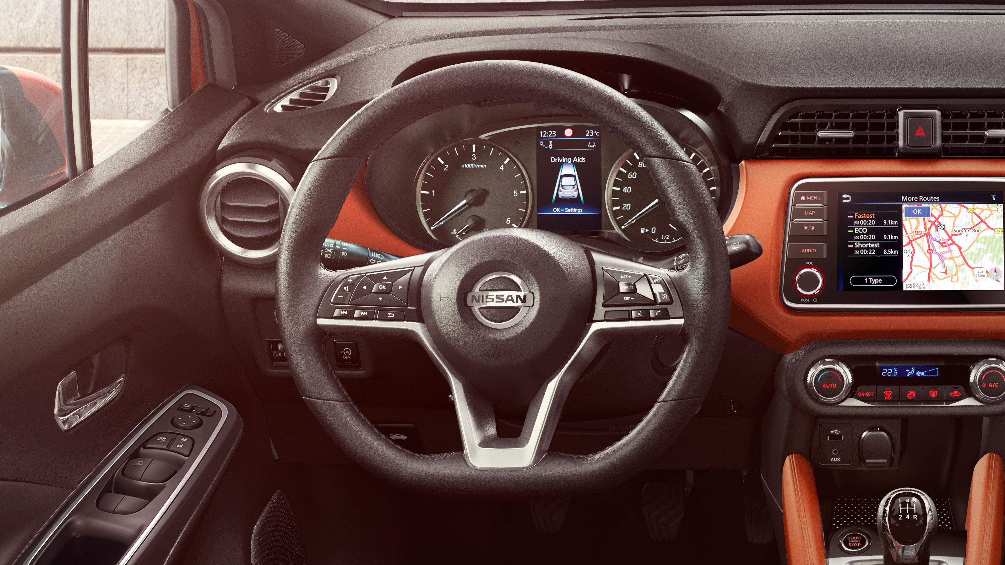 Nissan Micra D-shaped Steering Wheel